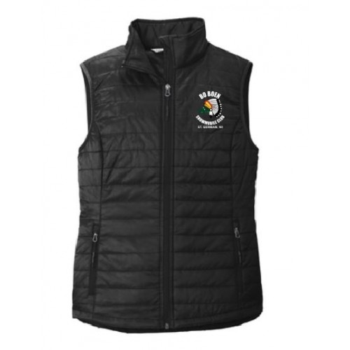 L851  Port Authority® Ladies Packable Puffy Vest EMBROIDERED