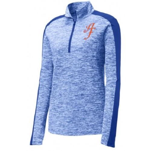 LST397  Sport-Tek® Ladies PosiCharge® Electric Heather Colorblock 1/4-Zip Pullover