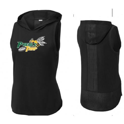LST410  Sport-Tek ® Ladies PosiCharge ® Tri-Blend Wicking Draft Hoodie Tank