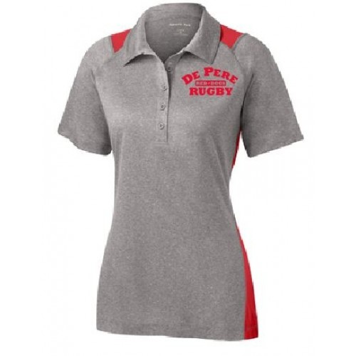 LST665  LADIES Sport-Tek®  Heather Colorblock Contender™ Polo