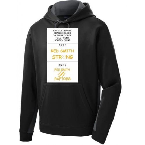 YST235  Sport-Tek® Youth Sport-Wick® Fleece Colorblock Hooded Pullover