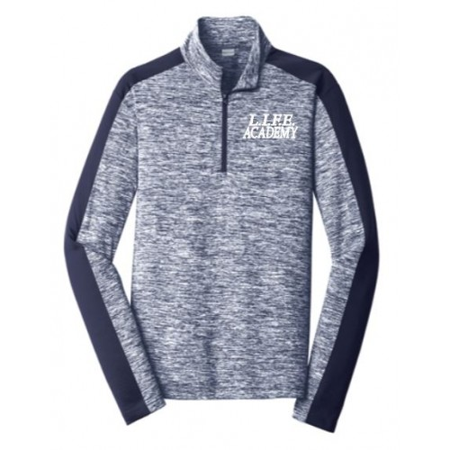 LST397 MEN'S & LADIES Sport-Tek® PosiCharge® Electric Heather Colorblock 1/4-Zip Pullover