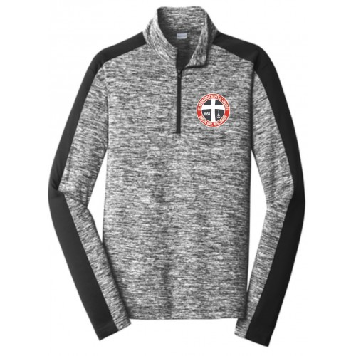 YST397  Sport-Tek ® Youth PosiCharge ® Electric Heather Colorblock 1/4-Zip Pullover