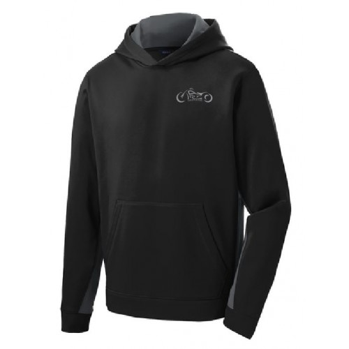 YST235  Sport-Tek® Youth Sport-Wick® Fleece Colorblock Hooded Pullover